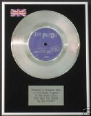 "SEX PISTOLS - 7"" Platinum Disc - GOD SAVE THE QUEEN"